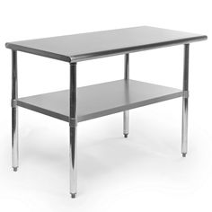Gridmann 48-Inch X 24-Inch Stainless Steel Kitchen Table