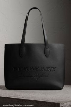 $1,295 Burberry Large Embossed Leather Tote A versatile tote bag in soft textured calf leather with an interior zip pocket for small essentials.#burberry, #totebag, #leathertote, #affiliate this contains an affiliate link