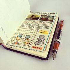 Artist fills traveler's notebook with intimate visual diary Notebook Art, Travelers Notebook, Design Tattoo, Visual Diary, Travel Scrapbook, Moleskine, Journal Inspiration, Journaling, Creations
