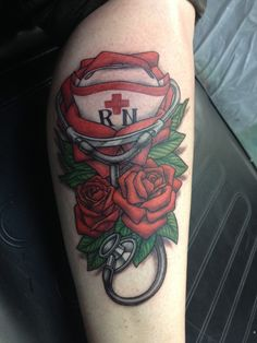 Inked up nurse #rn #lpn #nurse. Be sure to check out our full gallery at www.mightynurse.com
