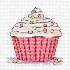 Cupcake: Cross stitch (DMC, BK981-G)