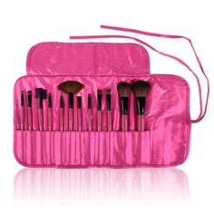 Shany Cosmetics Professional 12-Piece Natural Goat and Badger Cosmetic Brush Set with Pouch, Hot Pink null,http://www.amazon.com/dp/B00GURKS0Y/ref=cm_sw_r_pi_dp_E7nQsb10JCEDGNQV