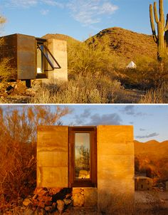 Tiny Frank Lloyd Wright-Inspired House Atop Miner's Ruins