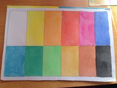 Carta de colores acuarela