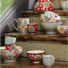 Large Boho Print Bowls