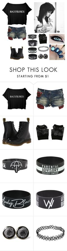 """""""First day at school"""" by xxkrysxx ❤ liked on Polyvore featuring Crafted, Dr. Martens, Hot Topic, black, BVB and alternative"""