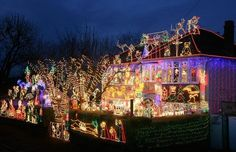 Alex Goodwind's house is situated in Melksham, England. He starts planning lights in July and has spent 3,000 GBP this 2008 year alone on the lights that are now estimated to be worth 30,000 GBP. Last year the bill for electricity was 700 GBP.