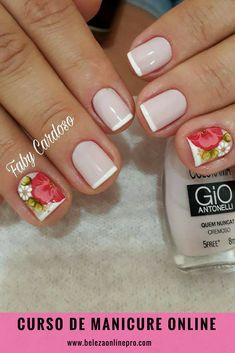 43 melhores imagens de unhas lindas e bem feitas em 2019 manicurecurso de manicure online unha francesinha, unha com flor manicureprofissional manicureemcasa
