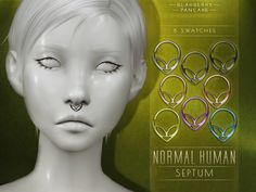 Normal human septum by Blahberry Pancake for The Sims 4