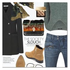 """""""..."""" by anna-anica ❤ liked on Polyvore featuring Balmain, Elizabeth and James, Borbonese, VILA, Class Roberto Cavalli and Burberry"""