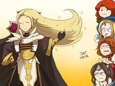 Dota 2 - Dat hair by keterok on DeviantArt