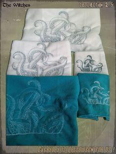 Cette semaine, The Witches vous apporte un peu de poulpe au menu !  si vous avez peur de vous baigner à cause des tentacules, alors... essuyez-vous avec !  http://www.coffinrock.com/coffinrock/fr/90-serviette-de-toilette
