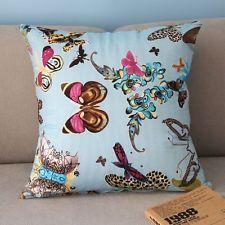 Colorful Beautiful Butterflies Throw Pillow Case Light Blue Cushion Cover PJ302