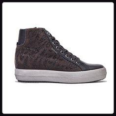 Sneakers Donna IGI&CO hi zeppa interna perline f.do gomma pelle grigio, nuova collezione autunno inverno 2017/2018 - Sneakers für frauen (*Partner-Link)