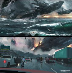 """ArtStation - USO """"Outer Earth Invasion"""", Michael Broussard"""