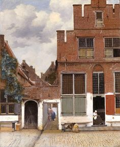 Johannes Vermeer, View of houses in Delft, known as 'The little street' , 1657-58