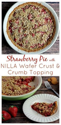 This pie is absolutely perfect for Spring and Summer! The combination of vanilla and strawberry is absolutely delicious! I don't think I could eat Strawberry Pie without a NILLA Wafer Crust ever again! #ad #SimpleGoodness | www.DeliciousLittleBites.com