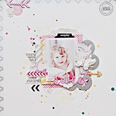 Christin aka Umenorskan scrapper: Sweet - Pink Paislee prosjekt using Luxe placemat, Artisan