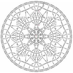 Motif Mandala Crochet, Crochet Dreamcatcher Pattern, Crochet Doily Diagram, Crochet Circles, Crochet Doily Patterns, Crochet Doilies, Crochet Lace, Wool Thread, Circle Pattern