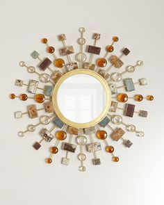 Shop Gemstone Sunburst Mirror from Janice Minor at Horchow, where you'll find new lower shipping on hundreds of home furnishings and gifts. Sun Mirror, Sunburst Mirror, Handmade Home Decor, Diy Home Decor, Home Decor Mirrors, Mirror Decorations, Round Mirrors, Floor Mirrors, Wall Mirrors