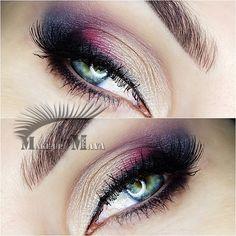 Gorgeous 'Daily Makeup' look by Make-UpByMaya using Makeup Geek's Bitten, Corrupt, Shimma Shimma and Vanilla Bean eyeshadows along with Immortal gel liner.