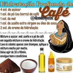 """Uma das minhas hidratações preferidas!  Amo!  fica uma seda o cabelo! Já fizeram a Hidratação de café? Ps: loiras devem evitar o pó de café, pode manchar!…"" Beauty Care, Beauty Skin, Beauty Hacks, Hair Beauty, Beauty Tips, Bad Hair Day, Big Hair, Natural Hair Care, Natural Hair Styles"