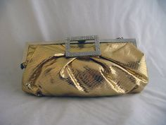 Super awesome 1980s gold clutch.