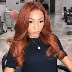 Auburn Ombre Hair, Dark Auburn Hair, Wig Hairstyles, Straight Hairstyles, Pretty Hairstyles, Short Hairstyle, Hairstyle Ideas, Dyed Natural Hair, Dyed Hair