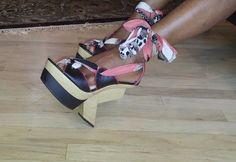 NEW Wild Rose show shoes Sz 8 M, very unique! #WildRose #PlatformsWedges