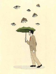 It's raining Keats and Vonnegut outside!