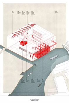 640 (564×836) Architecture Panel, Architecture Graphics, Architecture Portfolio, Architecture Details, Architecture Drawings, Isometric Drawing, Concept Diagram, Cad Drawing, Layout
