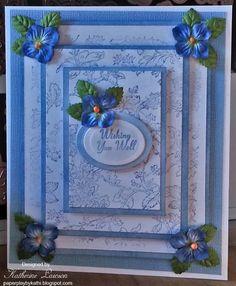 Blue Hydrangea Triple Time Card