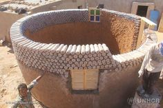 27-year-old Tateh Lehbib Breica has started building homes out of old plastic bottles in refugee camps in Algeria.