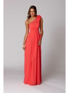 Langhem Mona Lisa Evening Dress - Coral Maxi Dress Evening Dress ...