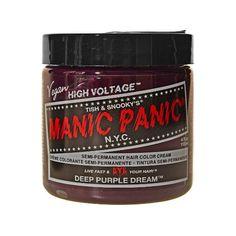 Manic Panic Deep Purple Dream Cream Formula Semi-Permanent Hair Color