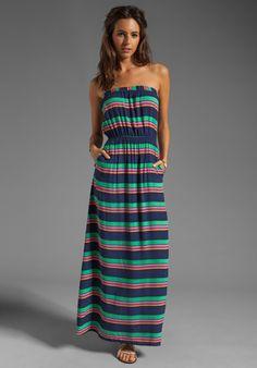 Revolve Clothing SPLENDID Canes Stripe Voile Dress in Navy $101.29