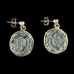 Atocha Jewelry - 1 Reale Silver Coin Earrings from Virtual Treasure Chest