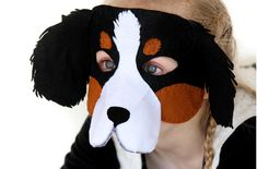 Dog Mask PATTERN. Digital Sewing Pattern for por EbonyShaeDesigns