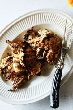 Perfect for the summer grilling season! Marinated Chicken Thighs, Skinless Chicken Thighs, Chicken Thigh Recipes, Best Chicken Recipes, Ranch Pasta, Winner Winner Chicken Dinner, Recipe Directions, How To Dry Oregano, Food 52