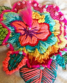 Getting to Know Brazilian Embroidery - Embroidery Patterns Brazilian Embroidery Stitches, Types Of Embroidery, Hand Embroidery Stitches, Hand Embroidery Designs, Embroidery Kits, Ribbon Embroidery, Cross Stitch Embroidery, Lesage, Embroidered Flowers