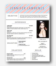 Best Jennifer Lawrence Resume Photos - Simple resume Office .