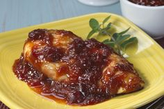 Chicken and cranberries are the perfect combination in this festive entrée.