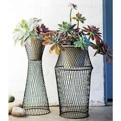 Sabio Wire Statuaries | Crate and Barrel--front porch?