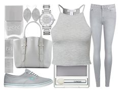 """grey day"" by j-n-a ❤ liked on Polyvore featuring Humble Chic, 7 For All Mankind, Clinique, Nails Inc., Vans, NLY Trend, Alexander McQueen and Michael Kors"