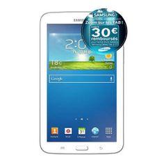 SAMSUNG Galaxy Tab 3 T2110 Blanc prix promo Auchan 249,00 € TTC au lieu 349 €