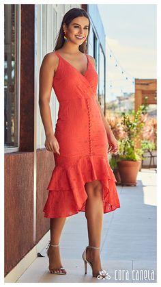 135616f2a LOOK BOOK 08 • Coleção Zamá • Cora Canela Vestidos Laranja, Vestidos De  Algodão,
