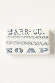 Barr Co. Soap at Anthropologie- packaging also comes wrapped in baker's twine ♥  This smells like Hawaii!!