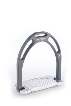 The Bicolour Matt stirrups by Jin Stirrup are made in top-quality aluminium. The ergonomic shape of the stirrup pad inclined at 4° guarantees excellent grip and maximum stability. The color is obtained through a process of anodic oxidization with opaque finish for the arch and shiny finish for the footpad.
