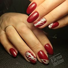 140+ Red Nail Art Designs 2018. Cute Nail Art Ideas for a Red Manicure. (2)