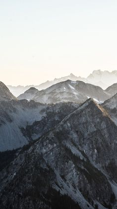 Mountain Layer View Nature Top #iPhone #6 #plus #wallpaper